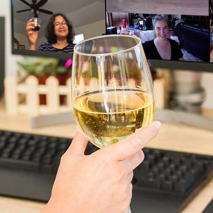 Big Fun at Our Virtual Wine Tasting